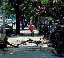 Bicycling in Brooklyn by rnfox