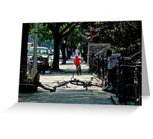 Bicycling in Brooklyn Greeting Card