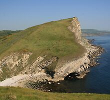 Gad Cliff From Worbarrow Tout by RedHillDigital