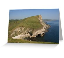 Gad Cliff From Worbarrow Tout Greeting Card