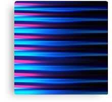 Neon blue and pink horizontal lines abstract linework Canvas Print