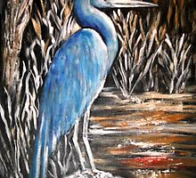 Blue Heron by Pamela Plante