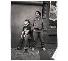 New York City: Father and son; waiting and dreaming Poster