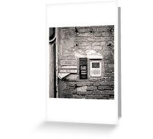 Venice: Post box on house Greeting Card