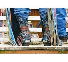 Chaps, Denim and Spurs  Photographic Print