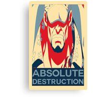 "Akainu ""Absolute Destruction"" Design Canvas Print"