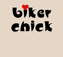Biker Chick Small Heart Womens Fitted T-Shirt