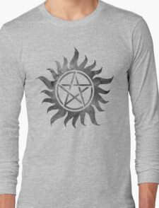 Supernatural Anti-Possession Ghost Print Long Sleeve T-Shirt