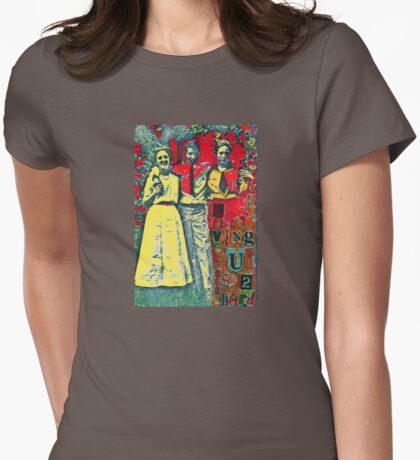 Loving U Is 2 Hard Womens Fitted T-Shirt