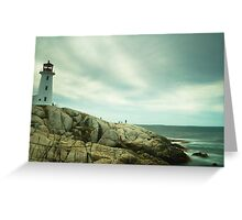 Lighthouse and a long sea Greeting Card