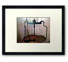 Payment in weight Framed Print