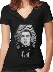 Bela Lugosi as Dracula Women's Fitted V-Neck T-Shirt