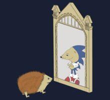 Hedgehog sees Sonic in Mirror of Erised (Harry Potter) Kids Tee