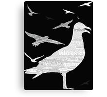 Free as a bird [on black and other dark colors] Canvas Print