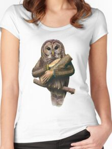 The owls are not what they seem Women's Fitted Scoop T-Shirt