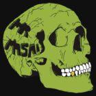 Green Skull by MrMasai