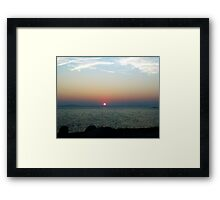 Peggy's Cove Sunset Framed Print