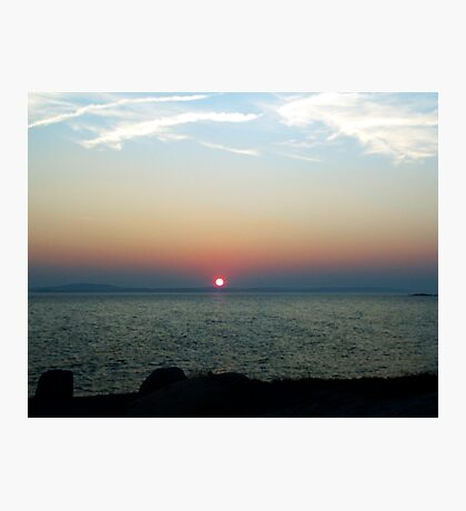Peggy's Cove Sunset Photographic Print