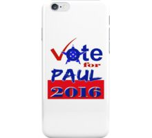 Vote for Paul 2016 iPhone Case/Skin