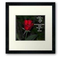 A Pledge Framed Print