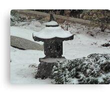 Oriental Snowfall Canvas Print