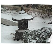 Oriental Snowfall Poster