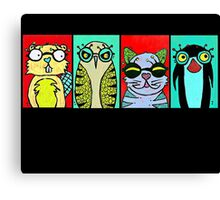 The Glasses Gang Canvas Print