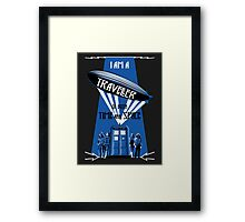 Traveller of Time and Space Framed Print