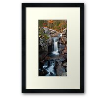 Screw Auger Falls Vertical View Framed Print