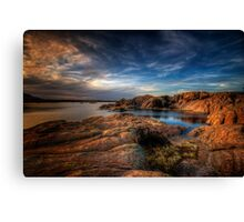 Willow Lake Rock Around Canvas Print