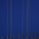 Blue sky where bridge ends, Los Angeles, CA by joshsteich
