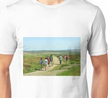 Walkers on Curbar Edge Footpath Unisex T-Shirt