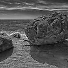 Boulders on a cliff overlooking the Tide Pools by Randall Nyhof
