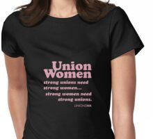 Union women 2 (dark) Womens Fitted T-Shirt