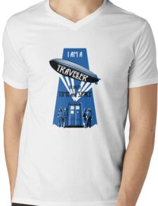 Traveller of Time and Space Mens V-Neck T-Shirt