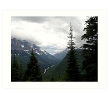 VIEW OF HEAVEN - GLACIER NATIONAL PARK Art Print
