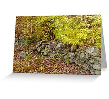 Stone Fence Greeting Card