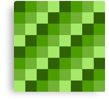Green Blocks Canvas Print