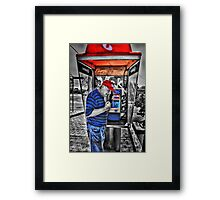 Answer The Phone Dam You!!! Framed Print