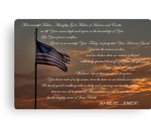 Lord Heal Our Land Canvas Print