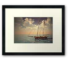 Voyage of the Cutter Framed Print