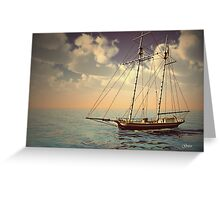 Voyage of the Cutter Greeting Card