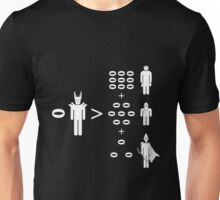 Middle Earth Maths (no text white) Unisex T-Shirt