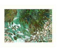 """Waterfall""  Art Print"