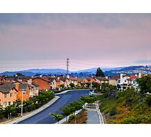 Houses on a hill Photographic Print