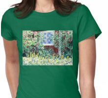 Idyllic Swedish Garden Impression Womens Fitted T-Shirt
