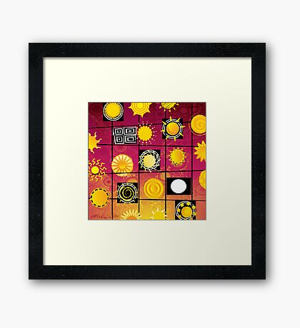 """Running in Square Circles"" Framed Print"