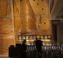 The Void Bar-  in vertical format to give an idea of the immense walls carved from the sandstone  by Ron Co