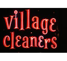 Village Cleaners  Photographic Print
