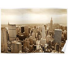 New York cityscape Poster
